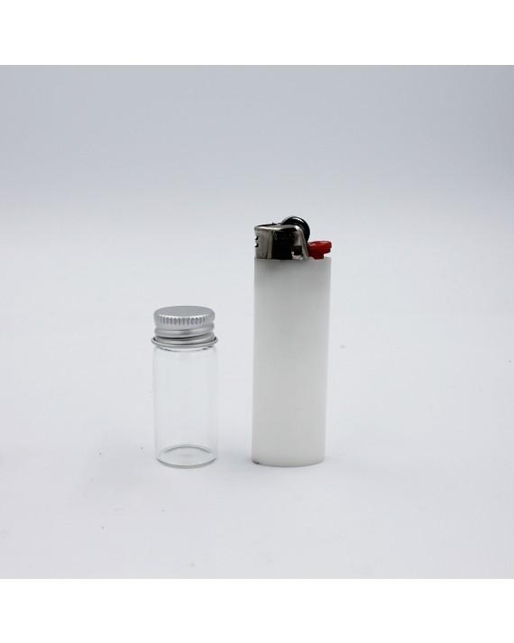 CH 5CM CLEAR JAR, SILVER METAL TOP
