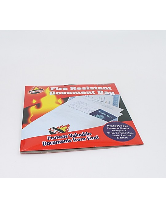 FIRE RESISTANT DOCUMENT BAGS SINGLE